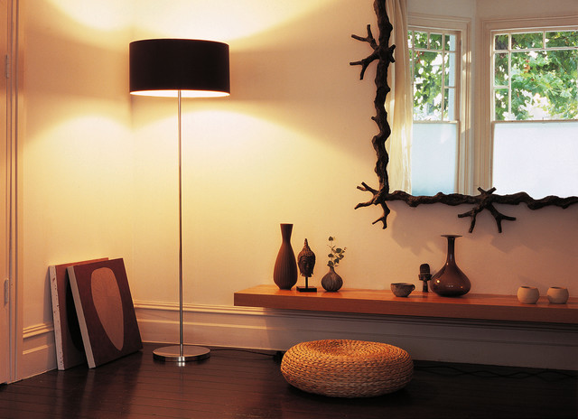Illuminate your favorite odjects d' art with a clean and modern floor lamp