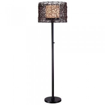 Bronze Finish - Kenroy Home 32220BRZ Tanglewood 1 Light Outdoor Floor Lamp