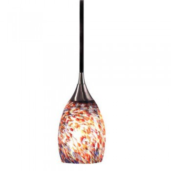 Kenroy Home 44301BS Medici 1 Light Mini Pendant with Confetti Blown Glass