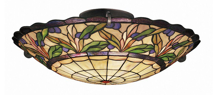 Kichler Lighting 69038 Secret Garden 3 Light Semi Flush Bronze