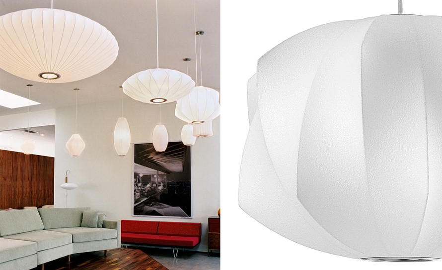 george nelson bubble lamps by herman miller. Black Bedroom Furniture Sets. Home Design Ideas