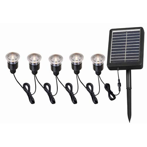 Kenroy Home 60503 5 Light Solar Light String Black