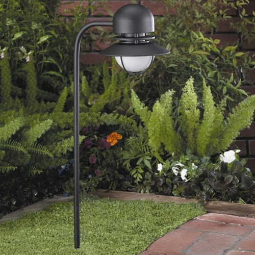 Ideal for Lighting flower beds, low planter areas, walkways and driveways, this line voltage path Light fixture utilizes A15 Incandescent series of lamps and is rated for use with lamps up to 40 watts.