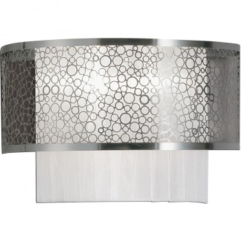 Eurofase Lighting 17405-010 Caledon, 2-Light Wall Sconce,Satin Nickel/White