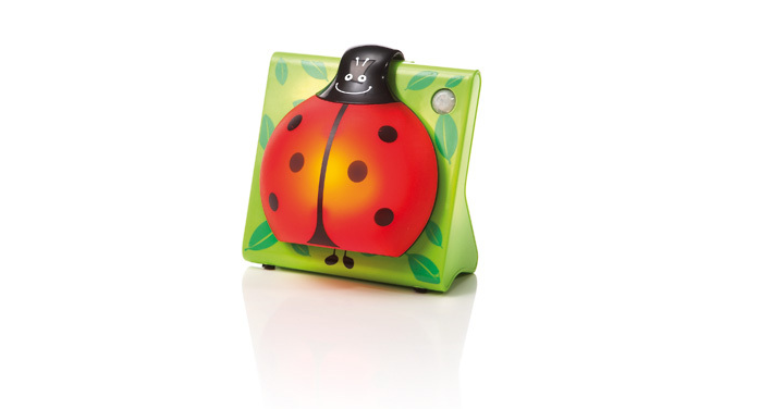 This LadyBug Guidelight by Philips Lighting produces a safe, comforting glow that turns itself on when there is a movement nearby