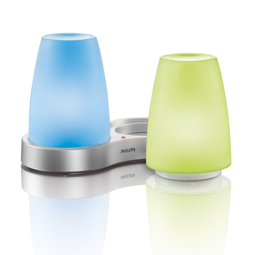 Aluminium Finish - Philips Lighting 691165548 Imageo Colored Tablelights 2 Light LED Table Lamp