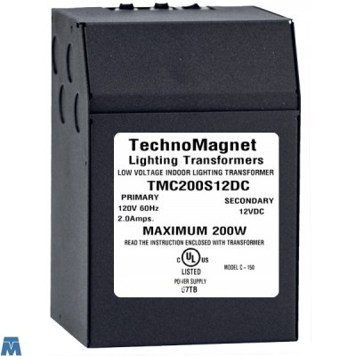 Techno Magnet TMC200S24VDC Indoor Magnetic 200W 24V - LED transformer