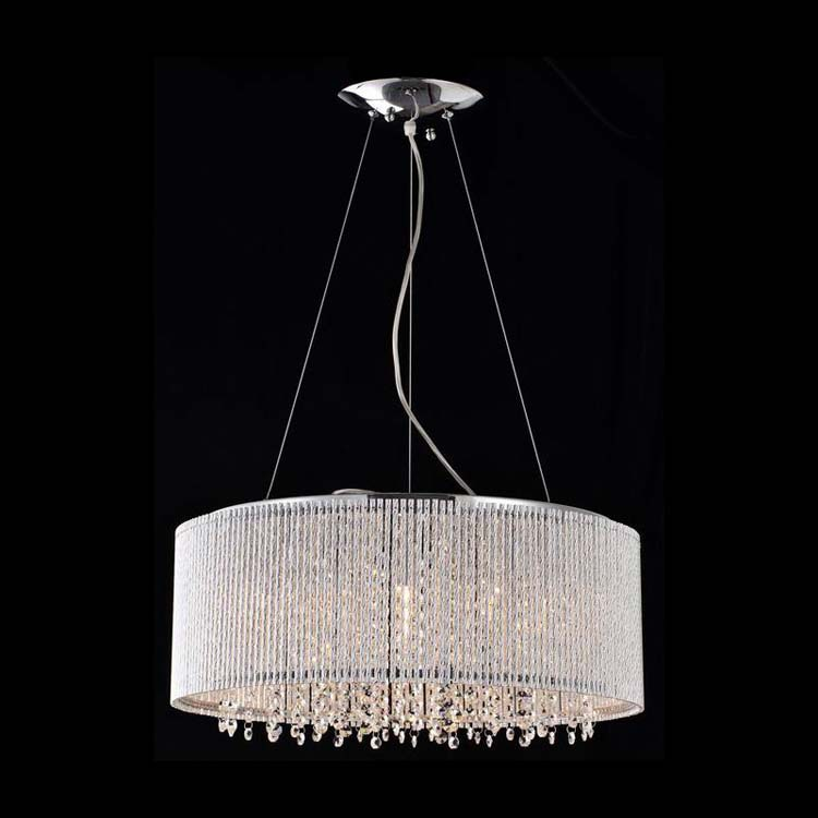 Bromi Design BCP1113-10 Crystalline 10 Lt Crystal Chandelier Chrome