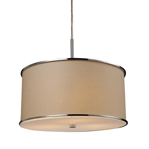 Polished Chrome Finish - ELK Lighting 200-3-Pendant Fabrique 3- Light Pendant 20056/3