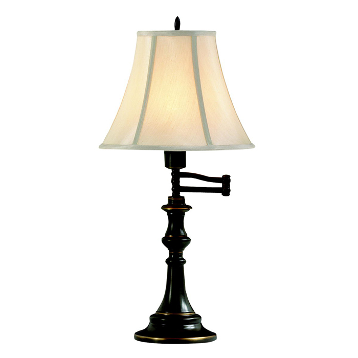 Kichler Lighting 70406 Clayton 1 Light Swing Arm Table Lamp Bronze  Bronze Finish