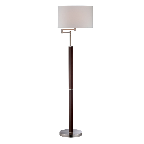 Polished Steel Finish - Lite Source LS-82009 Solada Swing Arm Floor Lamp