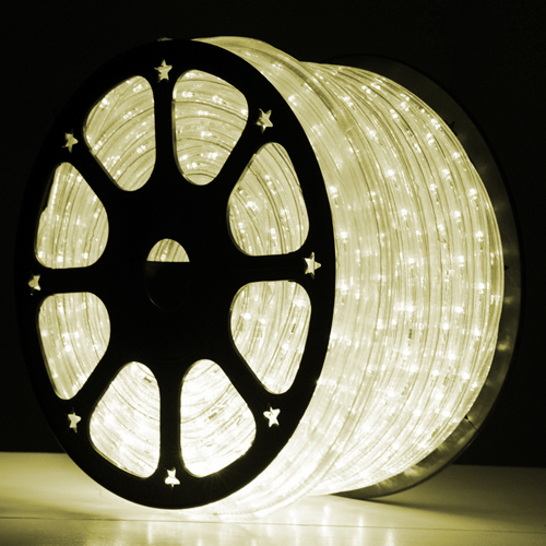 Warm White Color - Westgate Mfg IF2LED 120V Two Wire Clear Tube LED Rope Light IF2LED-WH-WW