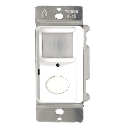 White Color - Westgate Mfg YMSN180 180 Degree Motion Sensor Wall Switch YMSN180-W