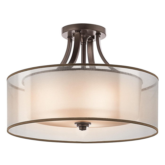 Kichler Lighting 42387 Lacey 3 Light Semi Flush Mount
