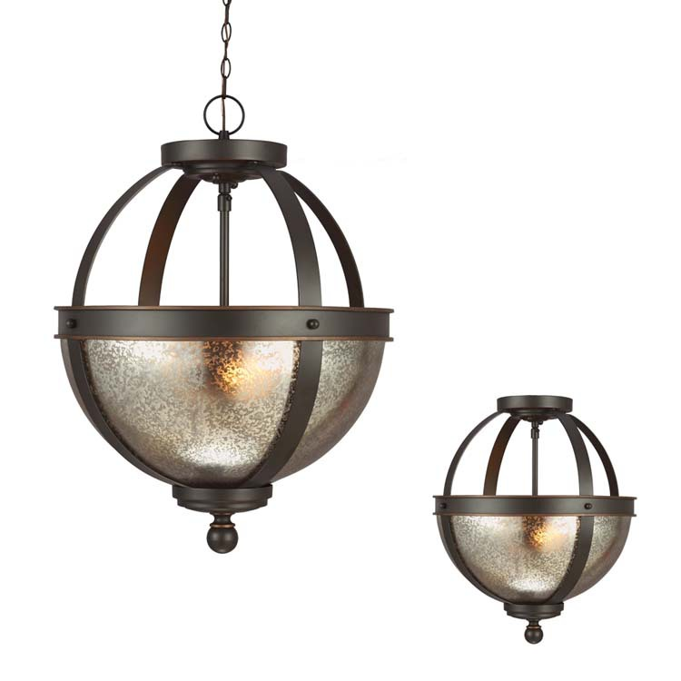 Sea Gull Lighting 7710402 Sfera 2 - Light Semi-Flush Convertible Pendant Autumn Bronze