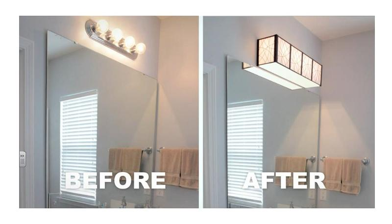 Updating Bathroom Vanity Lights : Install a Bathroom Light Yourself - Louie Lighting Blog