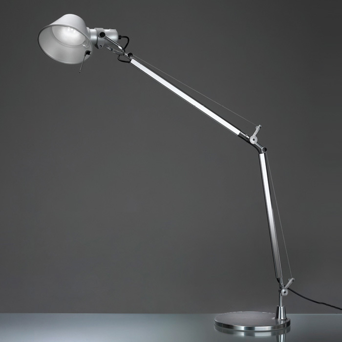 Artemide TOL0020 Tolomeo Classic LED Table Lamp with Clamp Aluminum
