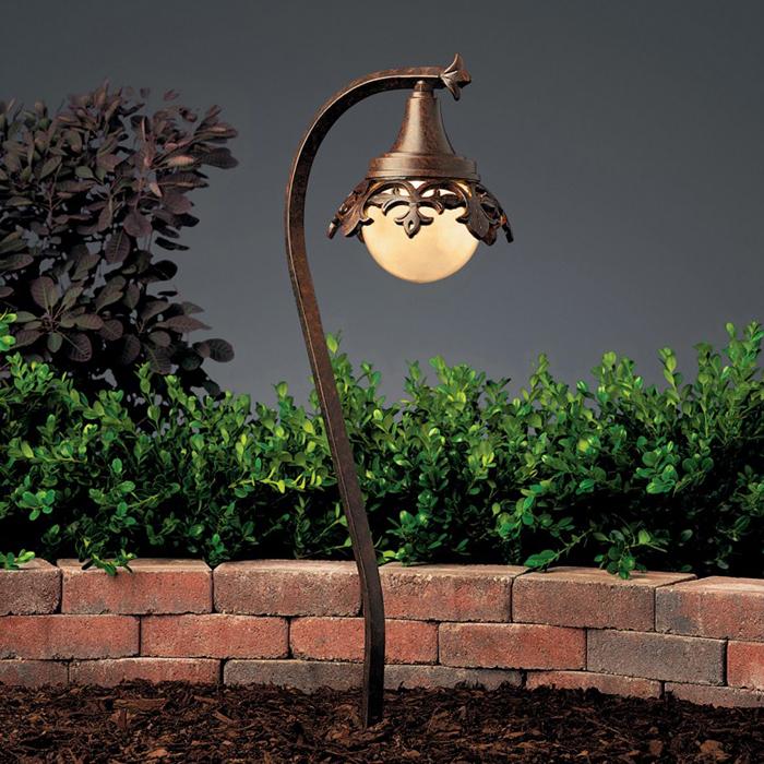 Kichler Lighting 15369TZT Vintage Park 1- Light Path & Spread Light Textured Tannery Bronze