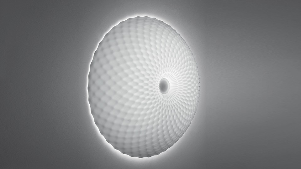 Artemide Lighting 1519018A Cosmic Rotation Wall/Ceiling Light Standard