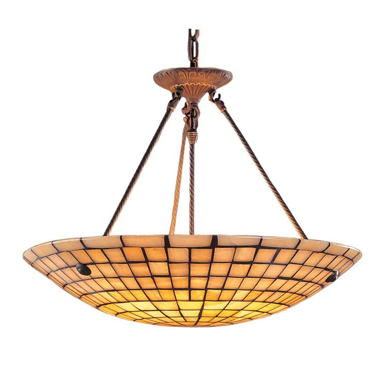 ELK Lighting 8820/8 Stone Mosaic 8- Light Pendant Dark Antique Brass