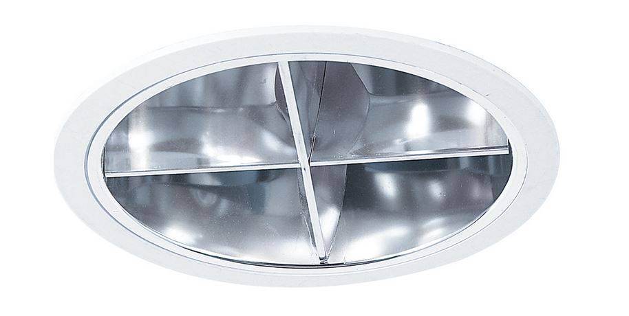 Eurofase Lighting 19186-016 6In Reflector W/Louver White/Chrome