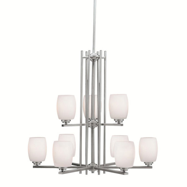 Kichler Lighting 1897 Eileen 9 Light Chandelier Brushed Nickel Finish