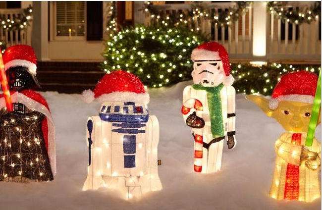 Amazing Star Wars Christmas Light Show!