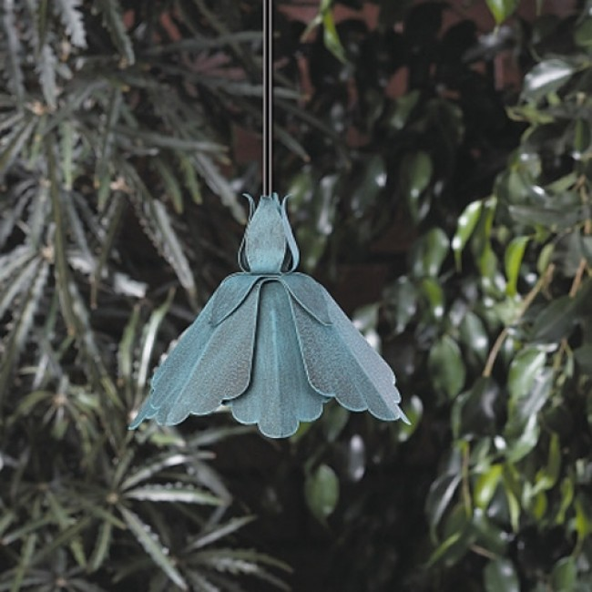12 Volt Aluminum Petal Shaped Hanging Light