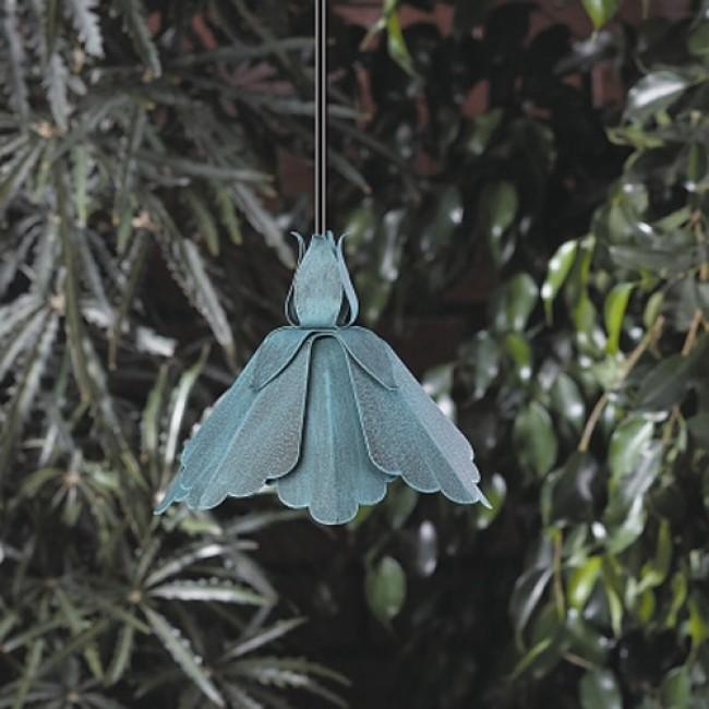 12 Volt Aluminum Petal Shaped Hanging Light
