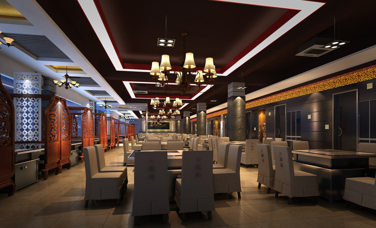 Chinese-restaurant-interior-ceiling-walls-and-lighting