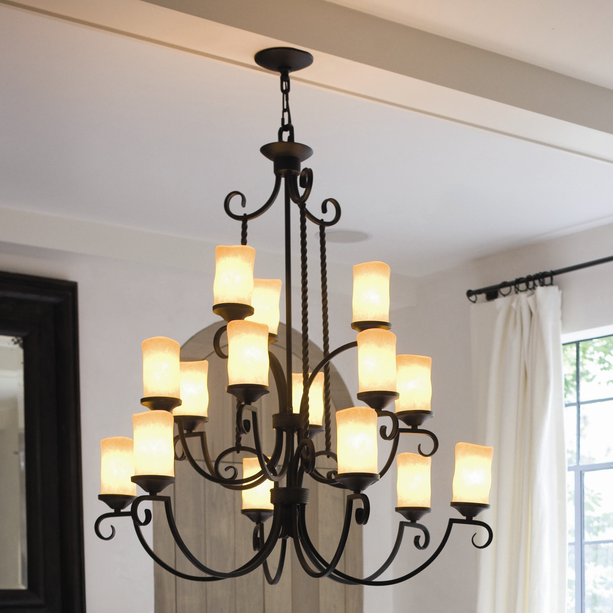 Fifteen Light Olde Black Candle Chandelier by Hinkley Lighting - Casa Collection
