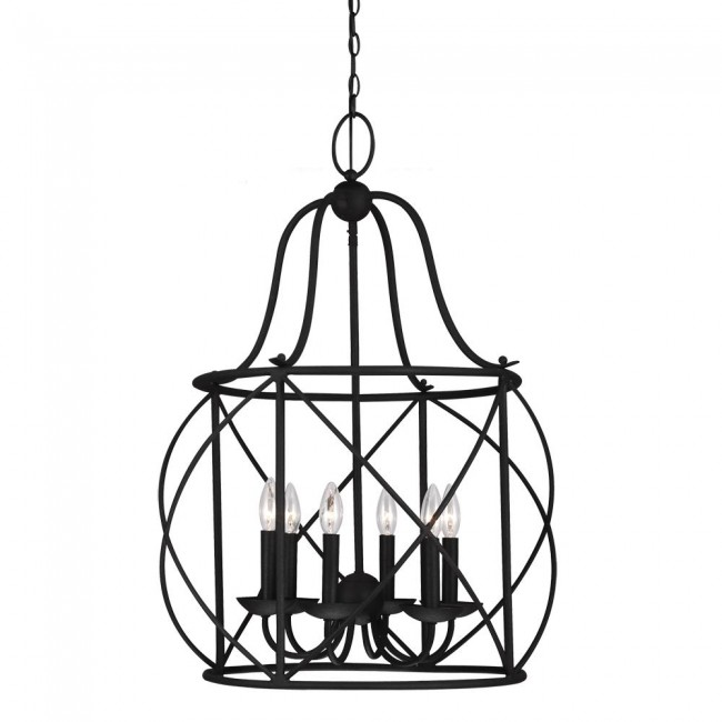 Turbinio Six Light Hall / Foyer Lantern in Blacksmith