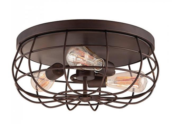 Neo-Industrial 3 Light Flushmount By: Millennium Lighting
