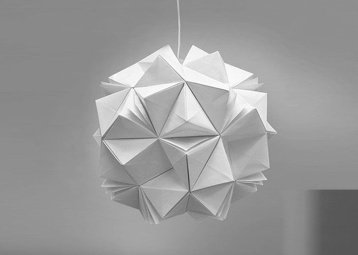 5 light fixtures with origami appeal