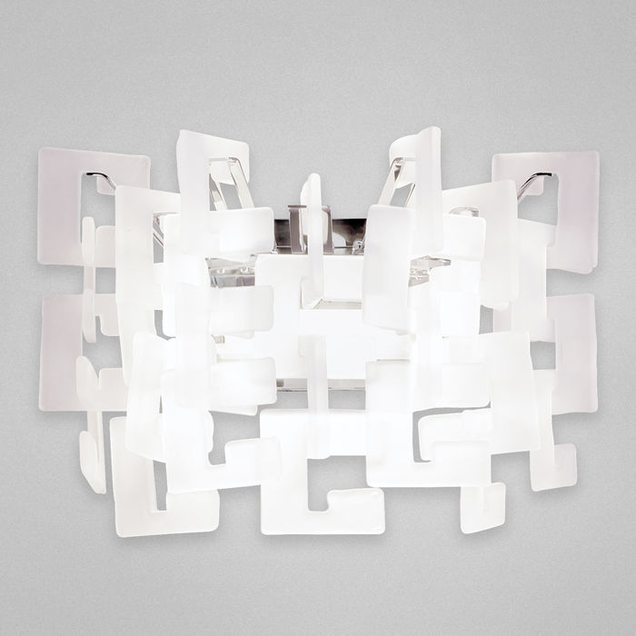 Numero,1Lt Sconce,White/Chrome By: Eurofase Lighting