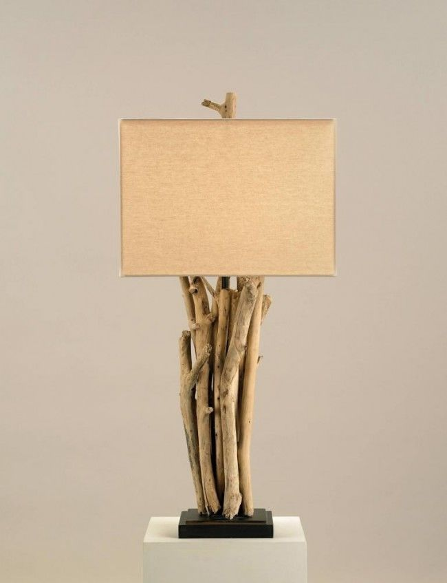 Wood Table Lamp By: Currey & Company