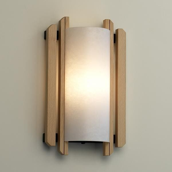 Trommel Beech Wood Wall Sconce (ADA) By: Justice Design Group