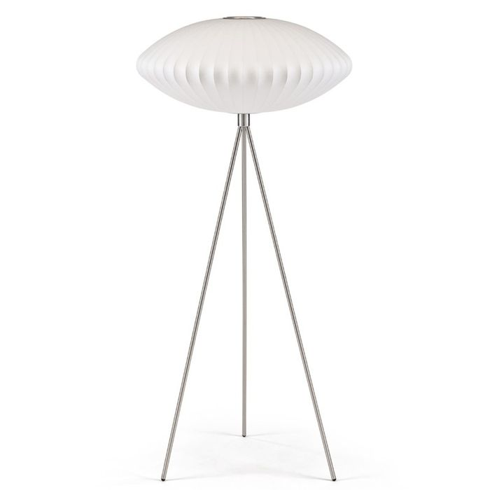 George Nelson Equinox Tripod Floor Lamp Medium By: Herman Miller