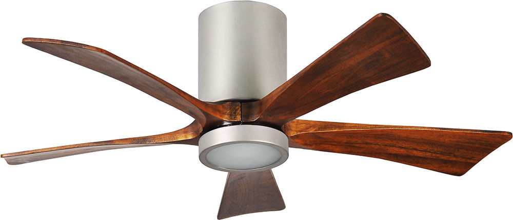 Irene-5HLK Five Bladed Paddle Fan with Walnut-Stained Wooden Blades By: Matthews Fan