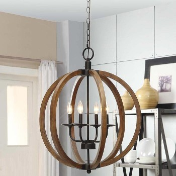 5 Light Fixtures With Wood Details