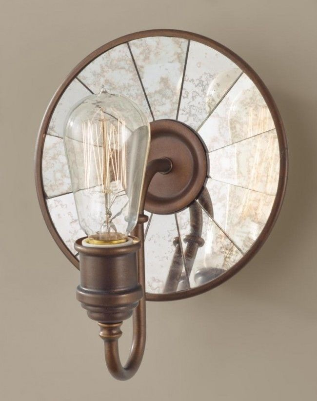 One Light Astral Bronze Wall Light By: Feiss Lighting