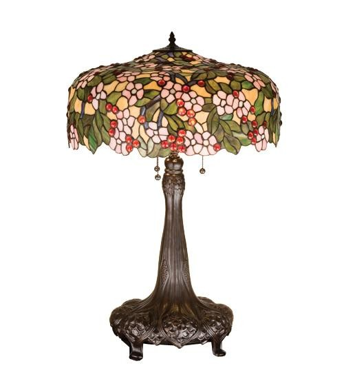 Meyda Tiffany Cherry Blossom Table Lamp