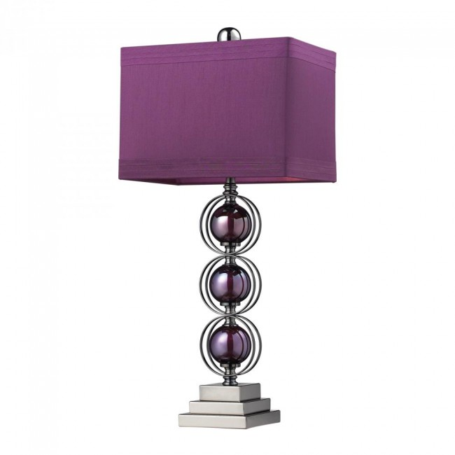 One Light Purple/black Nickle Table Lamp By: Dimond Lighting