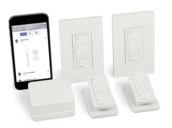 Smart Bridge Dimmer Kit with Pico Remotes for in-wall and ceiling lights