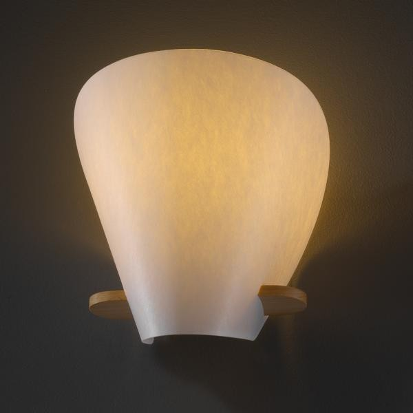 Iris Beech Wood Wall Sconce By: Justice Design Group