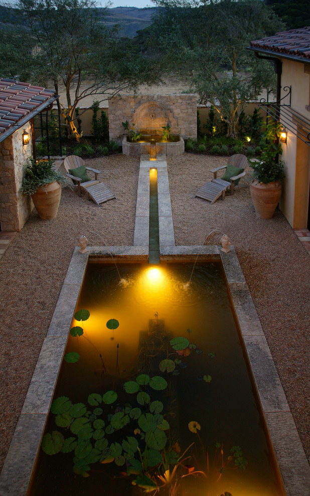 urn-water-fountain-Landscape-Mediterranean-with-al-fresco-backyard-bastide