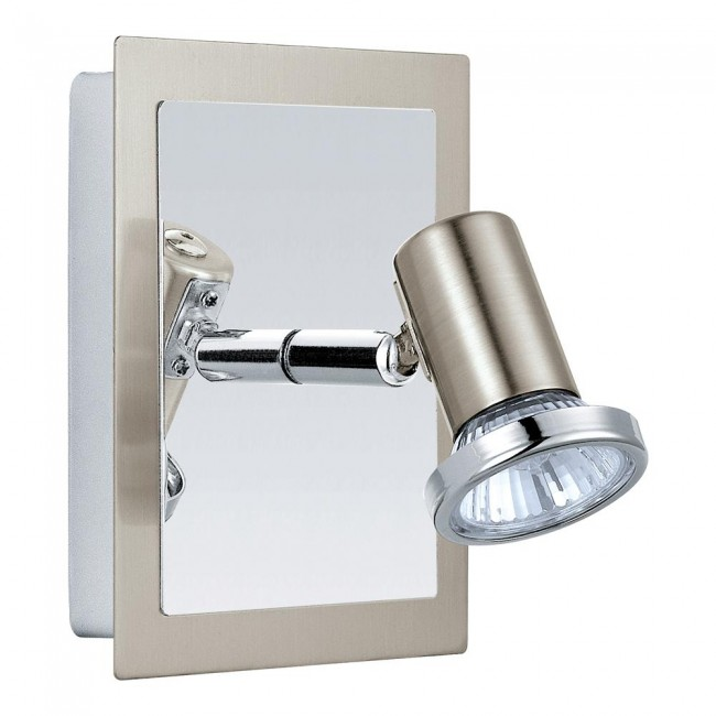 Matte Nickel/Chrome 1X50W Wall Light By: Eglo Lighting
