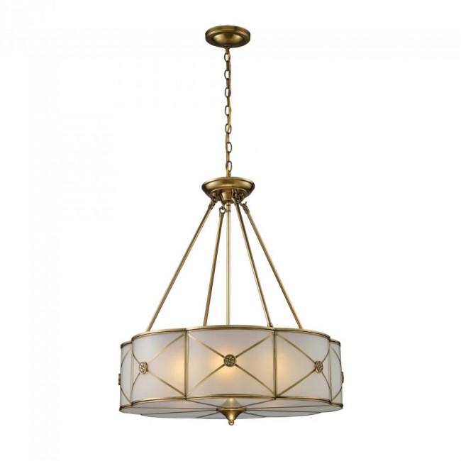 Preston 6-Light Pendant In Brushed Brass By: ELK Lighting