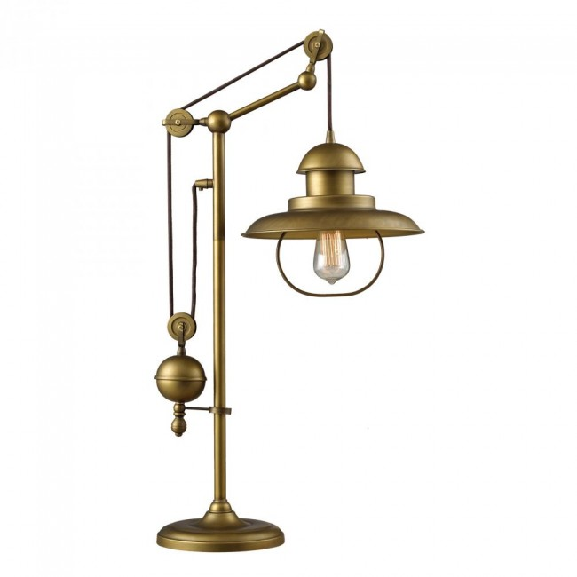 One Light Antique Brass Table Lamp By: Dimond Lighting