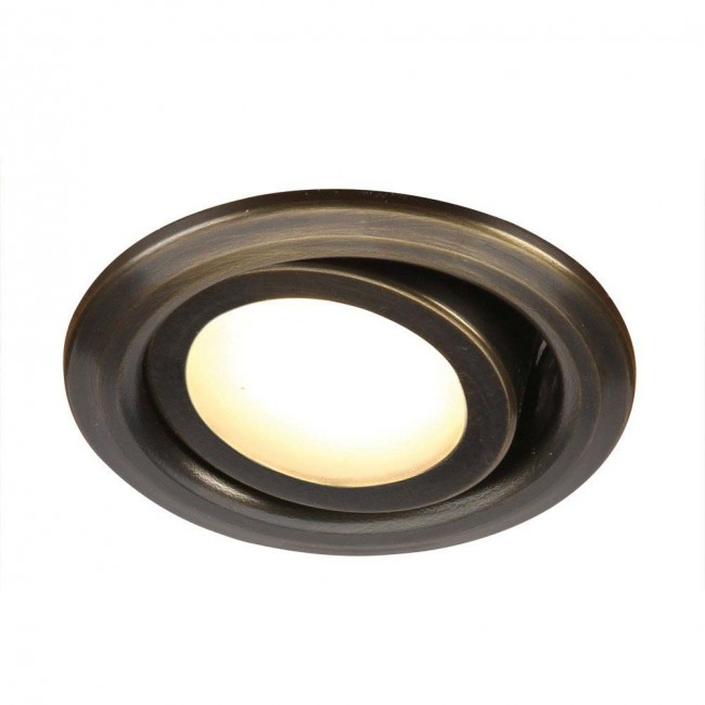 6W Solid Brass Adjustable LED Recessed Light 12V By: SPJ Lighting